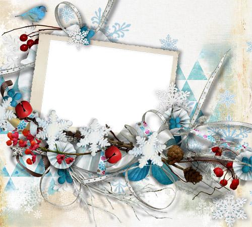 Женские рамки для фотошопа: Новогодняя