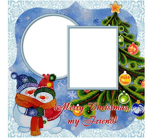 Праздничные рамки для фотошопа: Merry Cristmas!
