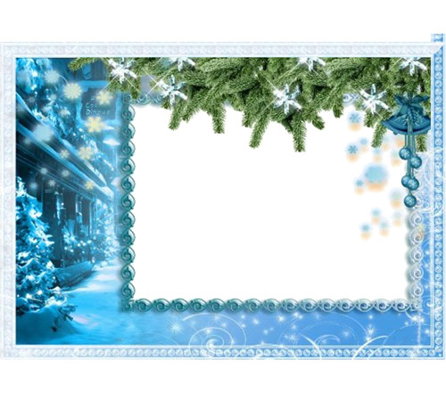 Женские рамки для фотошопа: Зима