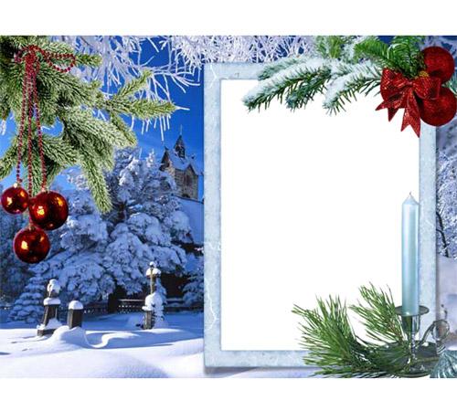 Праздничные рамки для фотошопа: Новогоднее настроение
