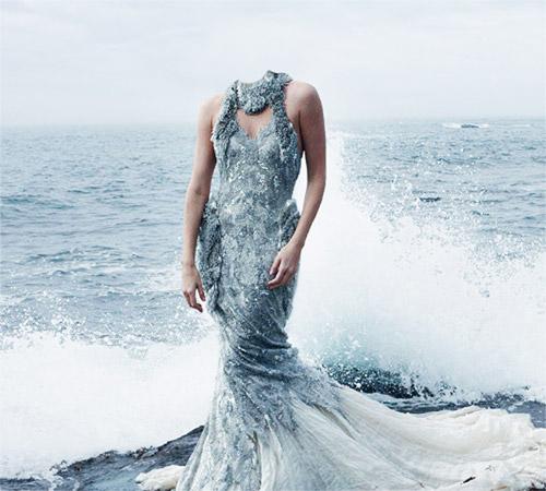 Женские шаблоны для фотошопа: Из пены волн