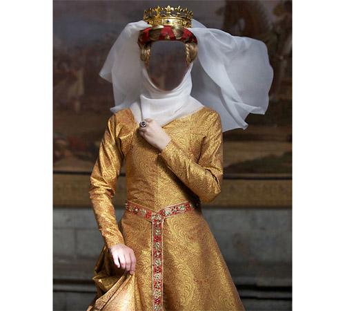Женские шаблоны для фотошопа: Королева Маргарита