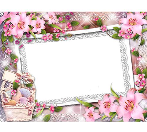 Рамки с цветами для фотошопа: Прекрасные лилии
