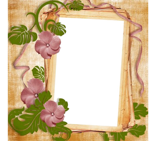 Рамки с цветами для фотошопа: Плетение цветов