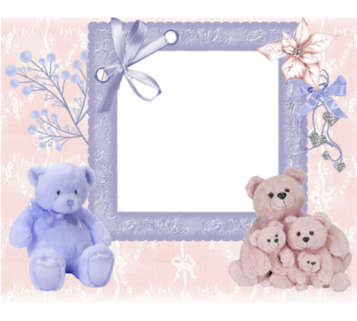 Рамки для новорожденных: Малыш Мишутка