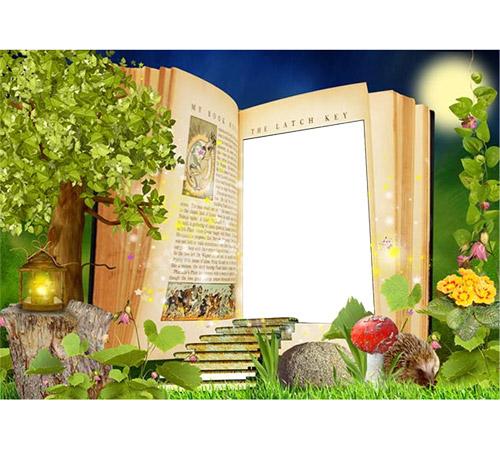 Детские рамки для фотошопа: Дверь в сказку