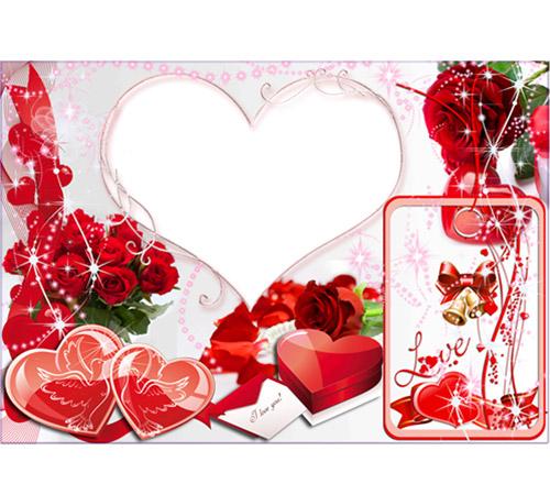 Рамки  - сердечки для фотошопа: Романтик