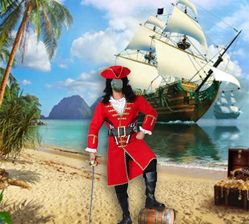 Мужские шаблоны для фотошопа: Пират и Остров Сокровищ