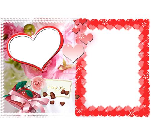 Рамки  - сердечки для фотошопа: I Love You!