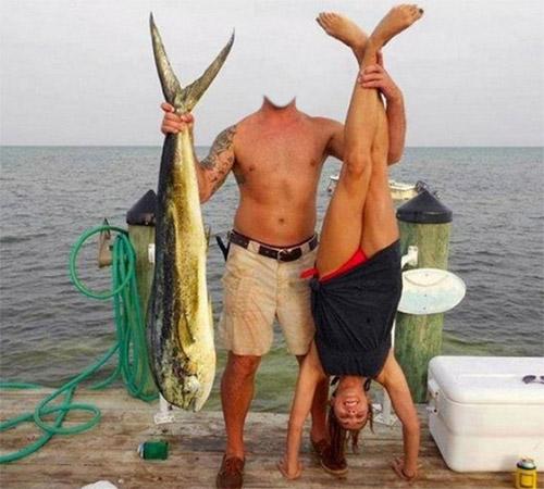 Приколы фотошопа для мужчин: Двойной улов