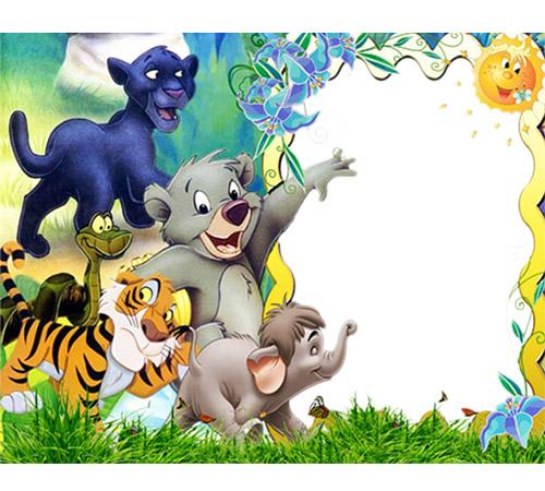Рамки с героями мультфильмов: Забавные зверушки