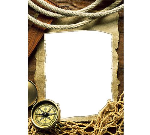 Мужские рамки для фотошопа: Покоритель морей!