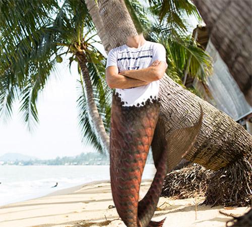 Приколы фотошопа для мужчин: Русалыч на берегу!