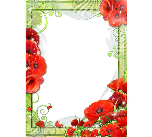 Рамки с цветами для фотошопа: Сияние маков