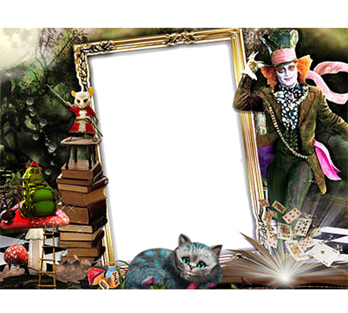 Детские рамки для фотошопа: Алиса в стране чудес
