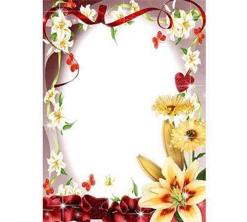 Рамки с цветами для фотошопа: Искорки