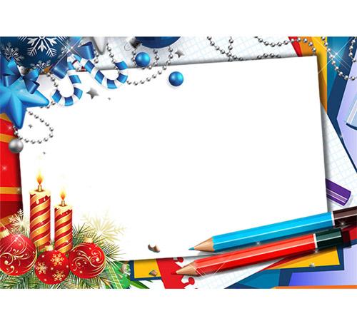 Праздничные рамки для фотошопа: Зимние зарисовки