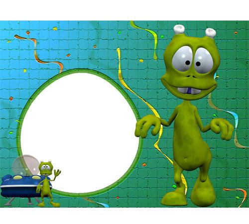 Детские рамки для фотошопа: Веселые пришельцы
