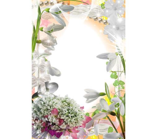 Рамки с цветами для фотошопа: Нежные ландыши