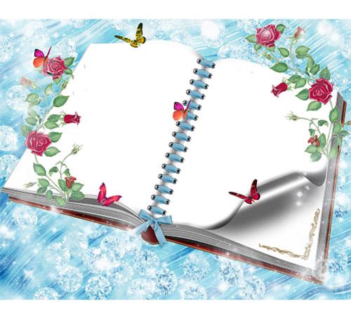 Рамки с цветами для фотошопа: Розы среди зимы