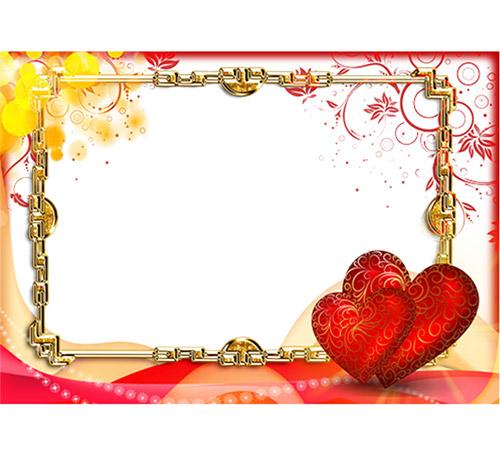 Рамки  - сердечки для фотошопа: Два сердца навсегда