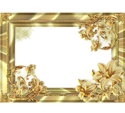 Мужские рамки для фотошопа: Золотому человеку!