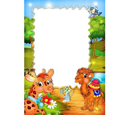 Детские рамки для фотошопа: Эти милые животные
