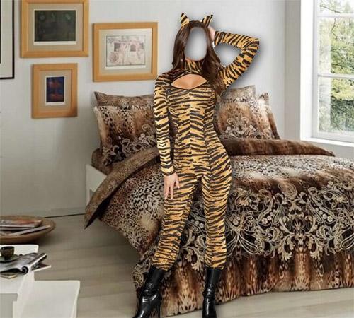 Женские шаблоны для фотошопа: Тигрюля
