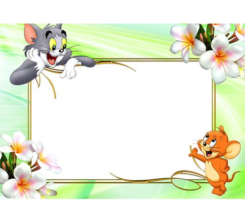 Детские рамки для фотошопа: Том и Джери