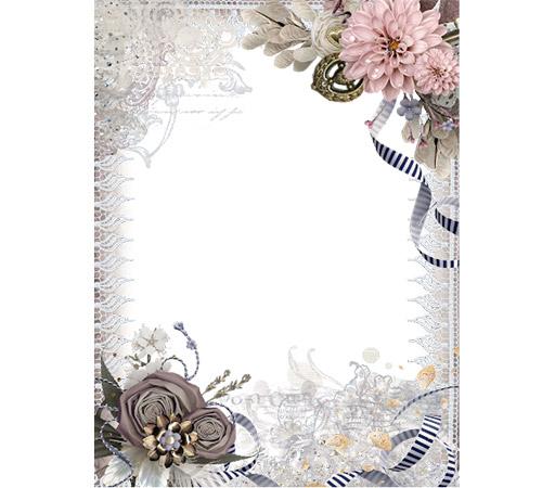 Рамки с цветами для фотошопа: Ретро рамочка