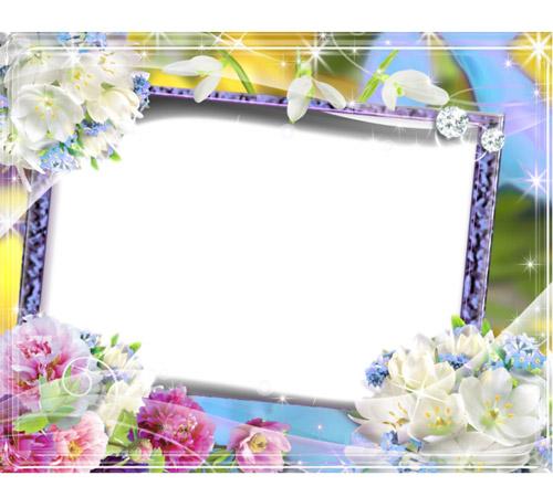 Рамки с цветами для фотошопа: Весенние цветы