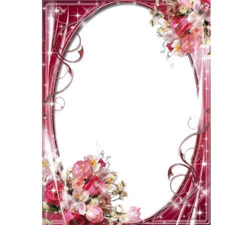 Рамки с цветами для фотошопа: Блеск цветов