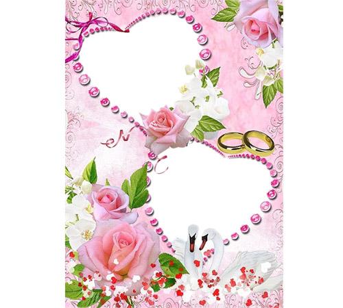 Рамки  - сердечки для фотошопа: Нежные сердца