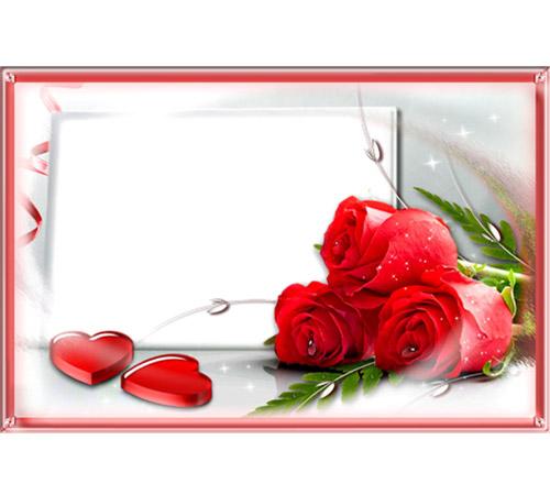Рамки с цветами для фотошопа: Три розы для 2-х сердец