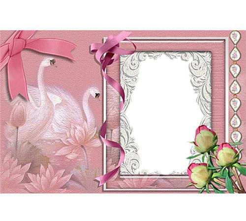 Праздничные рамки для фотошопа: Лебединая верность