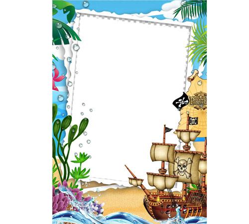 Детские рамки для фотошопа: Пиратская история