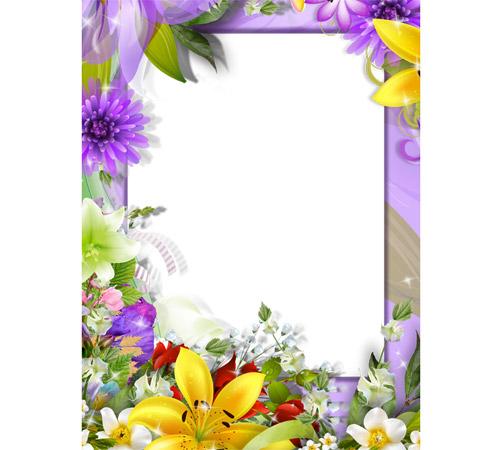 Рамки с цветами для фотошопа: Море цветов!