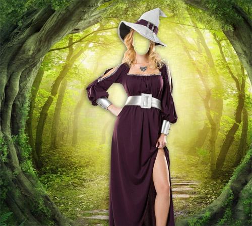 Женские шаблоны для фотошопа: Волшебница