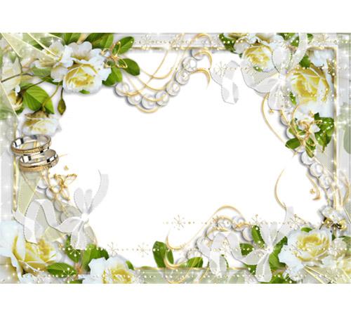 Праздничные рамки для фотошопа: Весеннее венчание