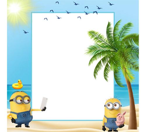 Рамки с героями мультфильмов: Миньоны на море