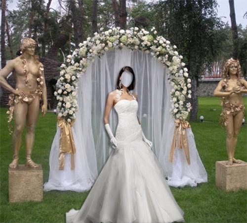 Женские шаблоны для фотошопа: У венчальной арки