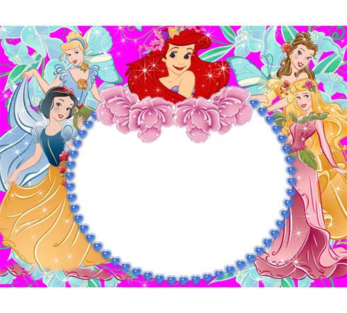 Рамки с героями мультфильмов: Принцессы