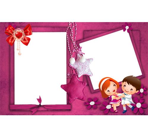 Рамки  - сердечки для фотошопа: С детских лет...