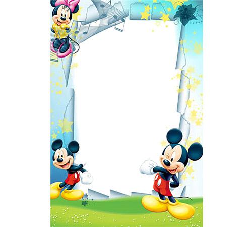 Рамки с героями мультфильмов: Мики Маус