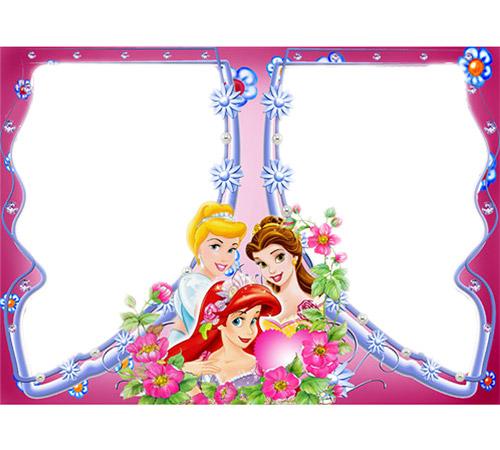 Рамки с героями мультфильмов: Три принцессы