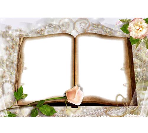Женские рамки для фотошопа: Раскрытая книга