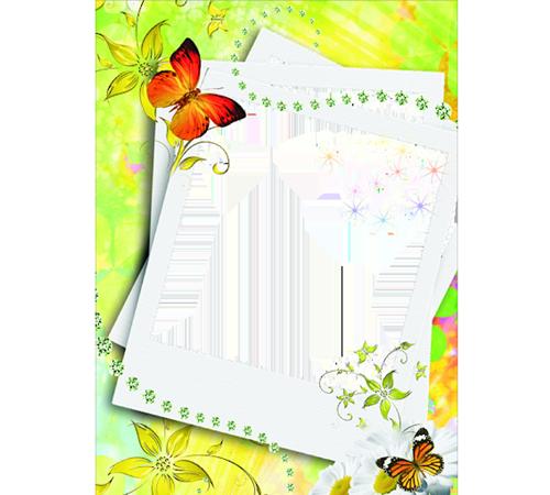 Детские рамки для фотошопа: Бабочки летают
