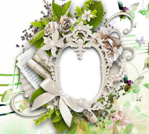 Рамки с цветами для фотошопа: Музыка внутри тебя