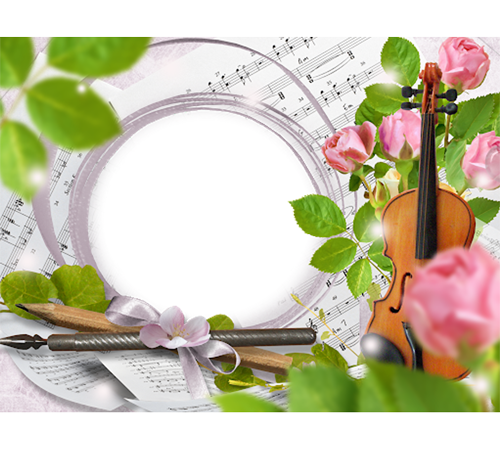 Рамки с цветами для фотошопа: Весенняя мелодия