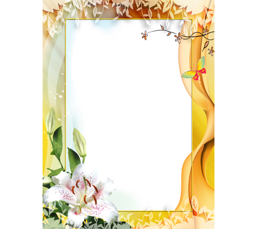 Рамки с цветами для фотошопа: Лилия
